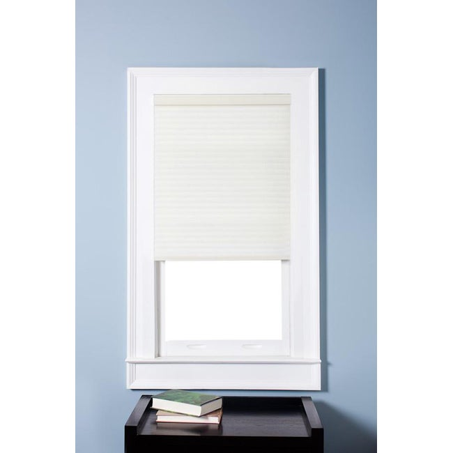 Arlo Blinds Honeycomb Cell Light-filtering Pure White Cellular Shades (40 x 72)
