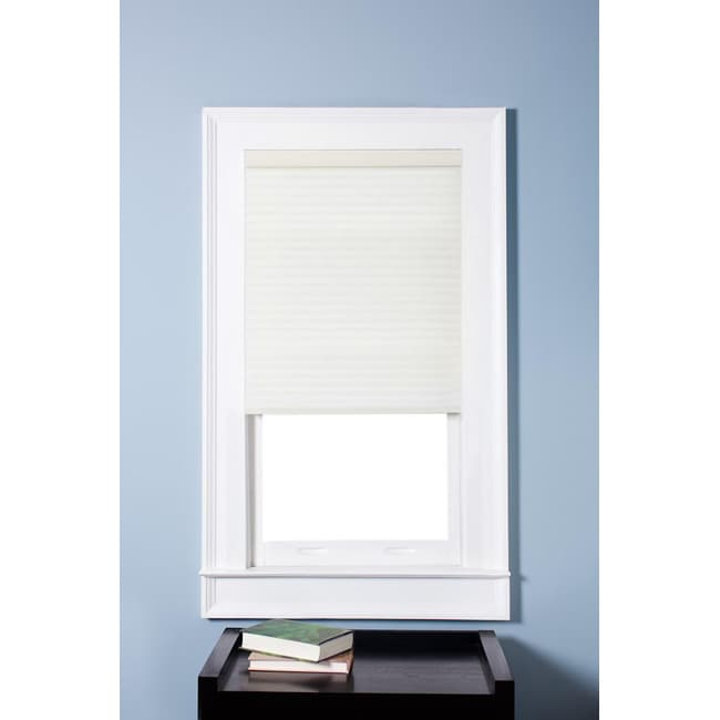 Arlo Blinds Honeycomb Cell Light Filtering Pure White Cellular Shades (29.5 x 72)