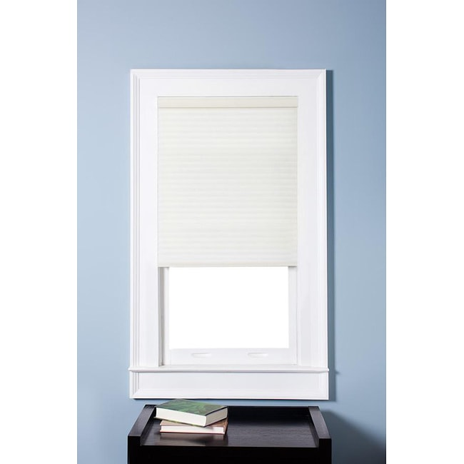 Honeycomb Cell Light-filtering Cream Cordless Cellular Shades (27.5 x 72)