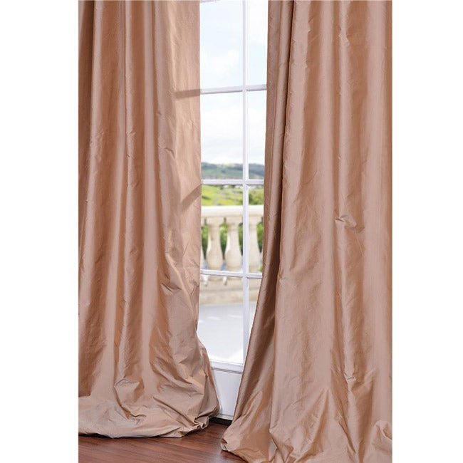 Exclusive Fabrics Dusty Pink Faux Silk 84-inch Curtain Panel