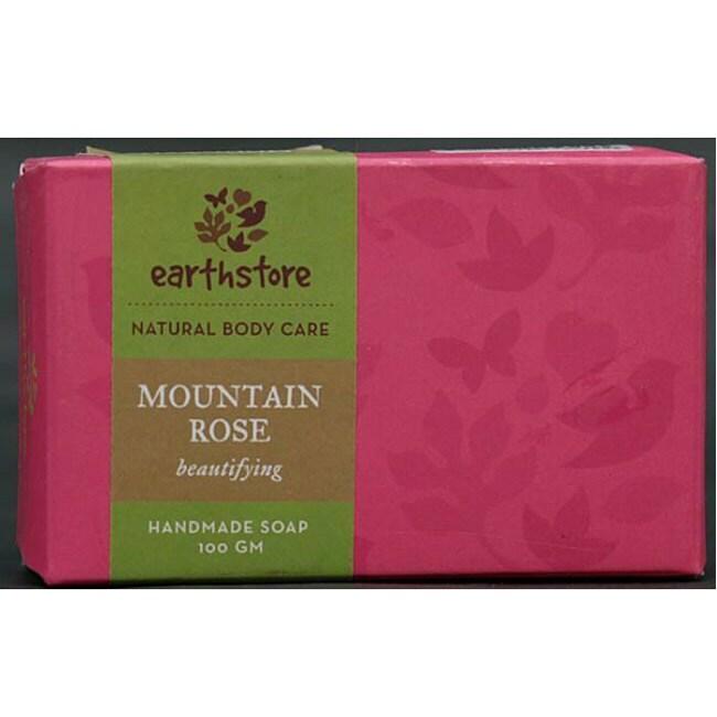 Set of 2 Handmade Mountain Rose Beautifying Soap Bars (India)