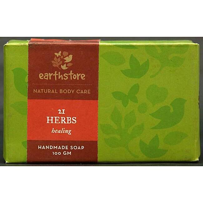 Set of 2 Handmade 21 Herbs Healing Soap Bars (India)