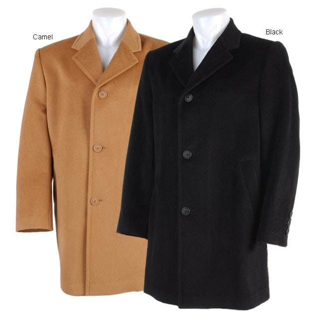 a9fae136f63 Shop Prague Men s Woolen Coat - Free Shipping Today - Overstock.com - 743594