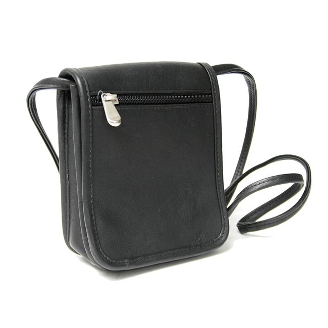 Royce Leather Vaquetta Petite Flapover Cross-body Bag - Thumbnail 0