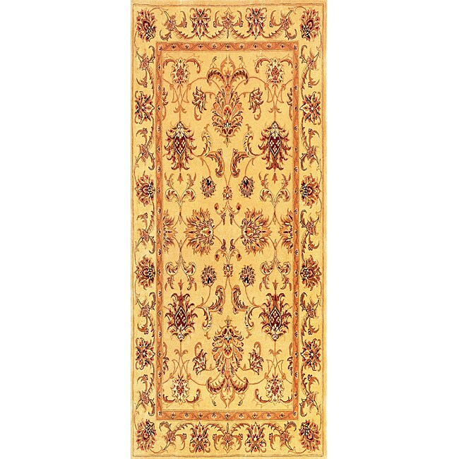 Hand-knotted 'Willoughby' Brown Wool Rug (6' x 9')