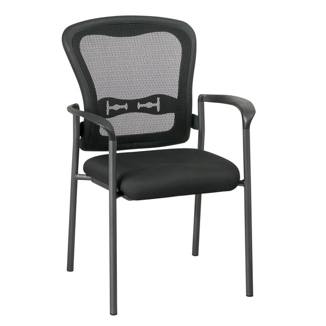 Office Star Visitors ProGrid Back Stacking Chair