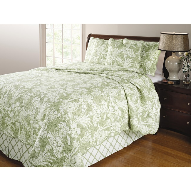 Greenland Home Fashions Mandarin Thyme 4-piece Quilt Set
