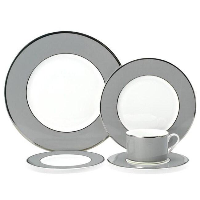 Mikasa Color Studio Grey and Platinum 5-pc Dinnerware Set