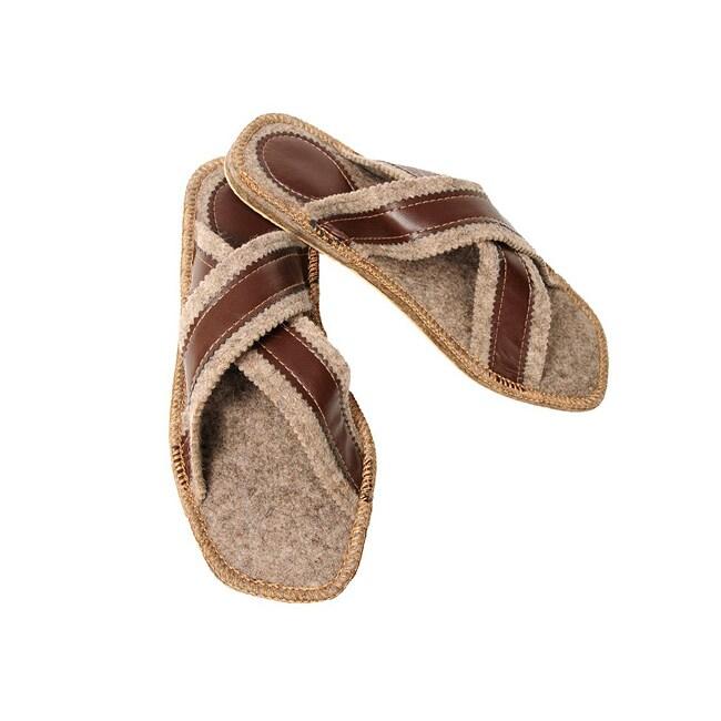Men's Felt Roman Eco Slippers (Russia)