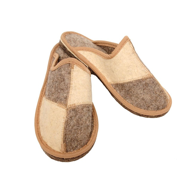 Men's Felt 'Shahmat' Eco Slippers (Russia)