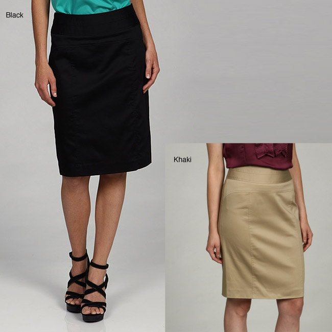 Atelier Luxe Women's Triple Seam Waistband with Three Front Panels Skirt