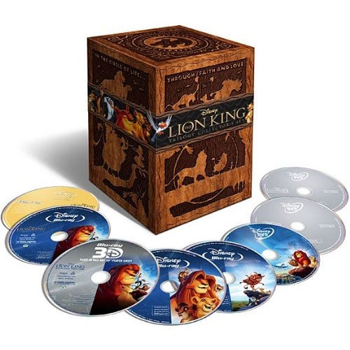 The Lion King Trilogy (Eight-Disc Combo: Blu-ray 3D / Blu-ray / DVD)