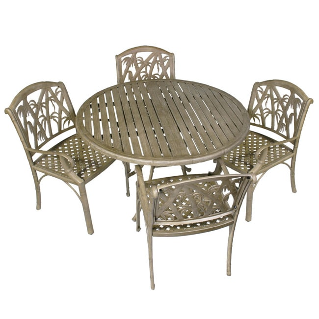 Bali 5 piece Outdoor Dining Table and Chairs Set Free