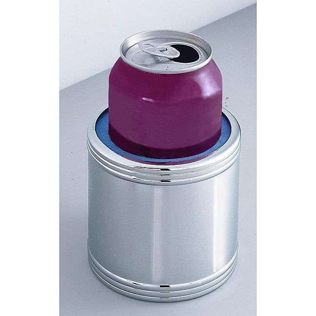 Silverplated Monogramed Can Holder