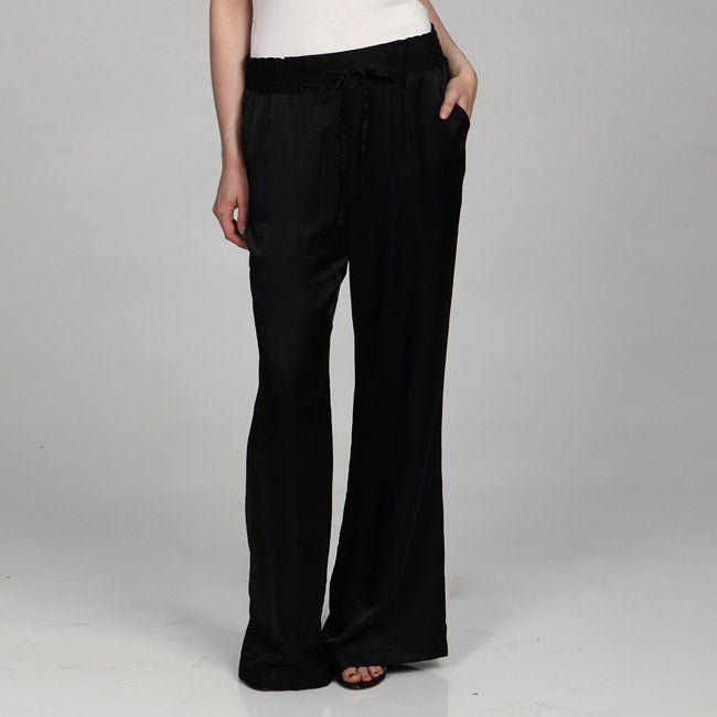 Vivienne Vivienne Tam Women's Shirred Elastic Waist Lounge Pant