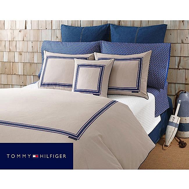 Tommy Hilfiger Oxford Khaki King-size Duvet Cover