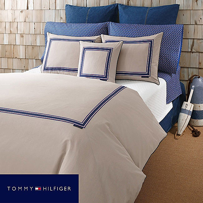 Tommy Hilfiger Oxford Khaki Full/Queen-size Comforter