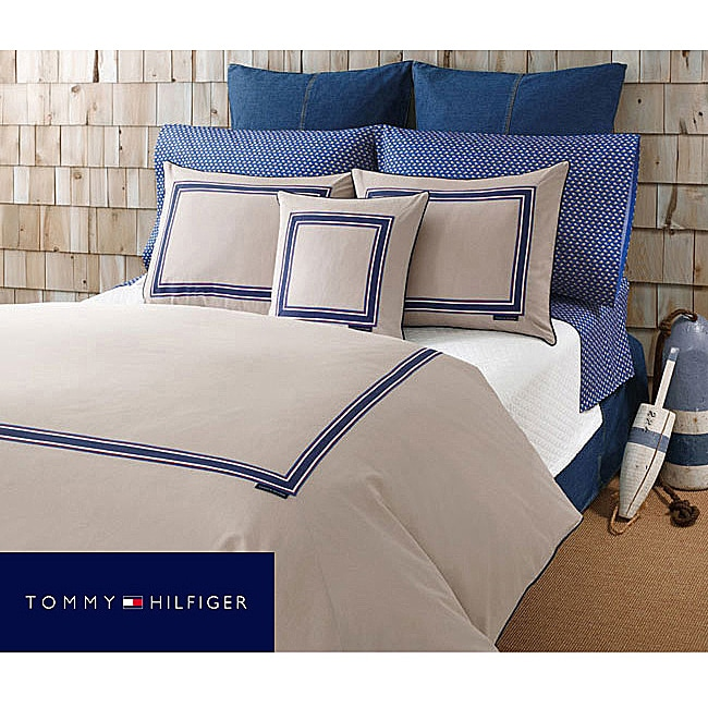 Tommy Hilfiger Oxford Khaki Twin-size Comforter