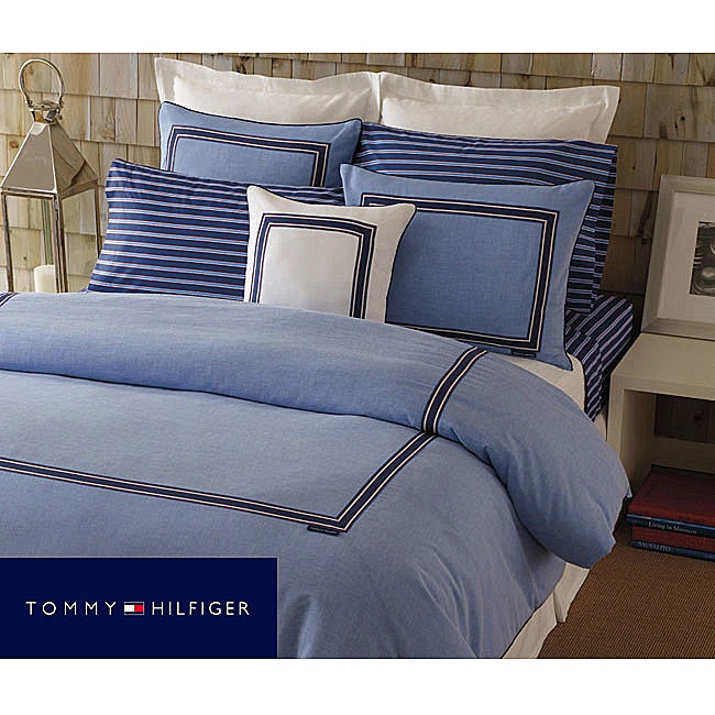 Tommy Hilfiger Oxford Blue Full Queen Size Comforter