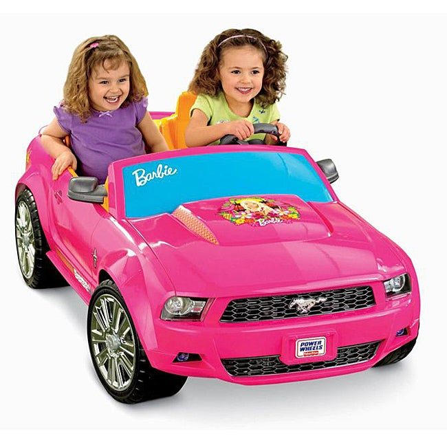 Fisher Price Power Wheels Barbie Ford Mustang (Power Whee...