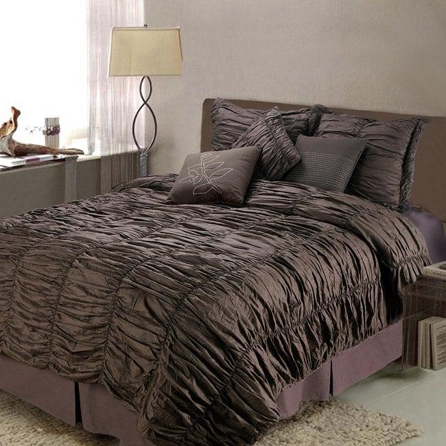 Cinnamon Queen-size 7-piece Comforter Set