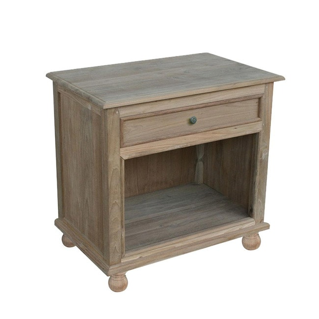 Reclaimed Teak Natural Closed Night Stand