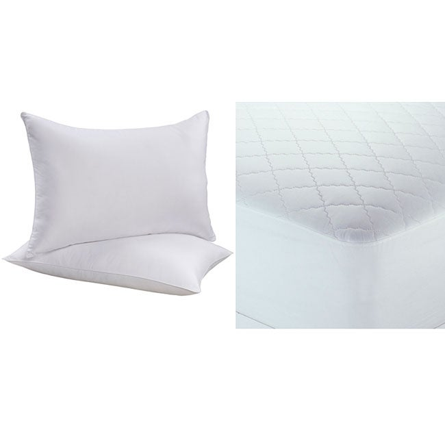 Back to School Combo Twin XL-size Mattress Pad and Pillow 3-piece Set