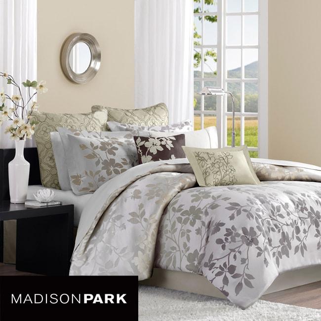 Madison Park Charlotte Khaki 8-piece Comforter Set