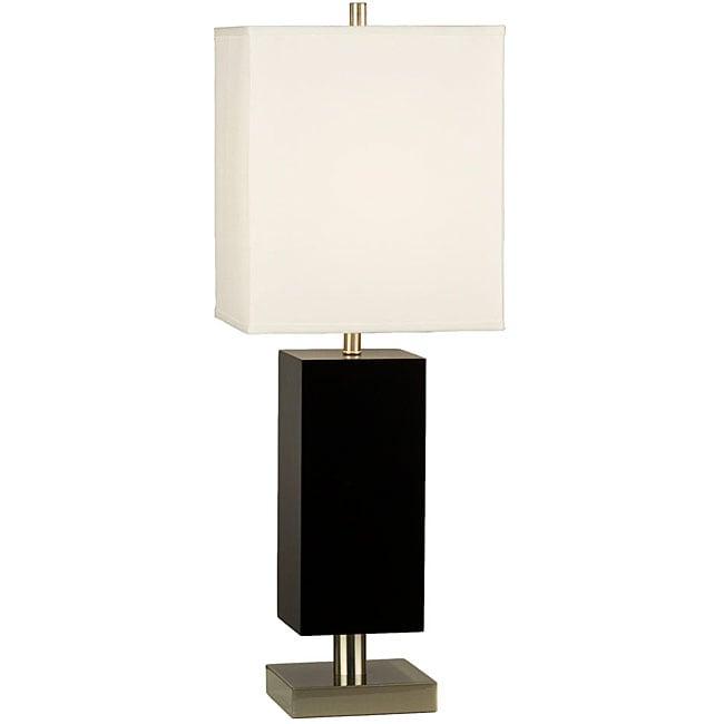 Nova Lighting 'Border' Brown Wood Table Lamp