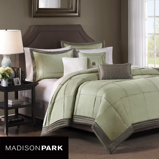 Madison Park Brookfield Sage 7-piece Comforter Set