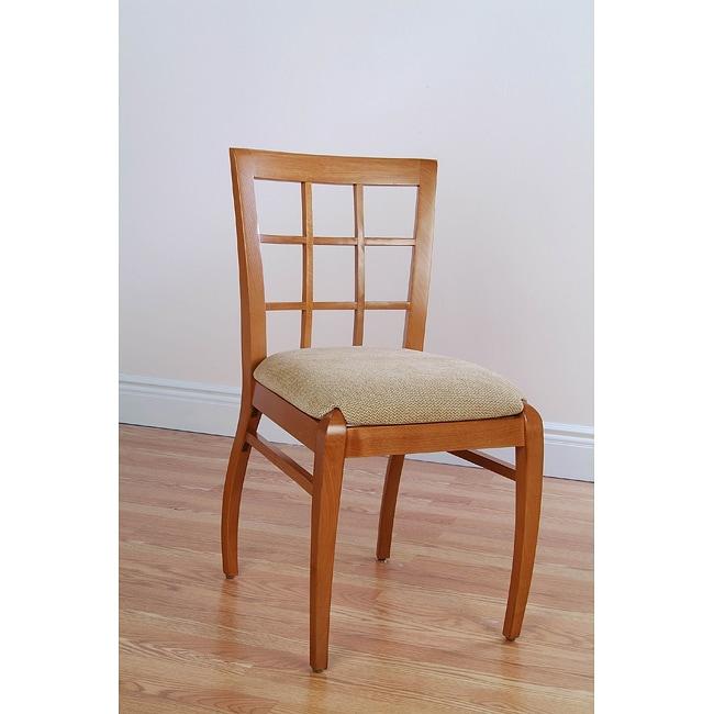 sienna windowpane cherry dining chairs set of 2 free shipping