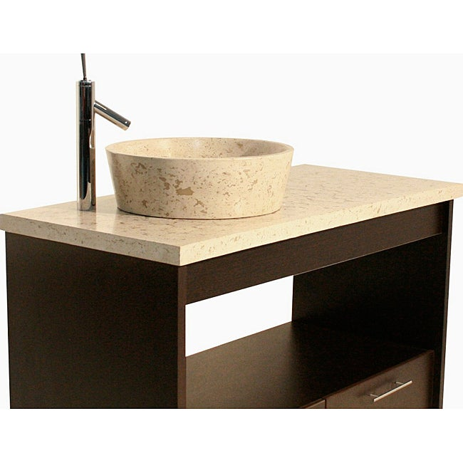 Concrete Full Moon Marble Sink