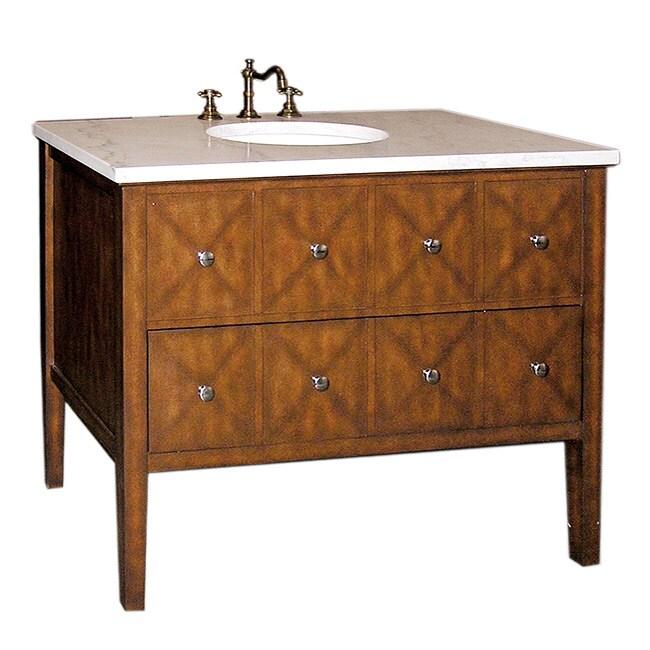 Marble-top 41.5-inch Single-sink Bathroom Vanity - Free ...