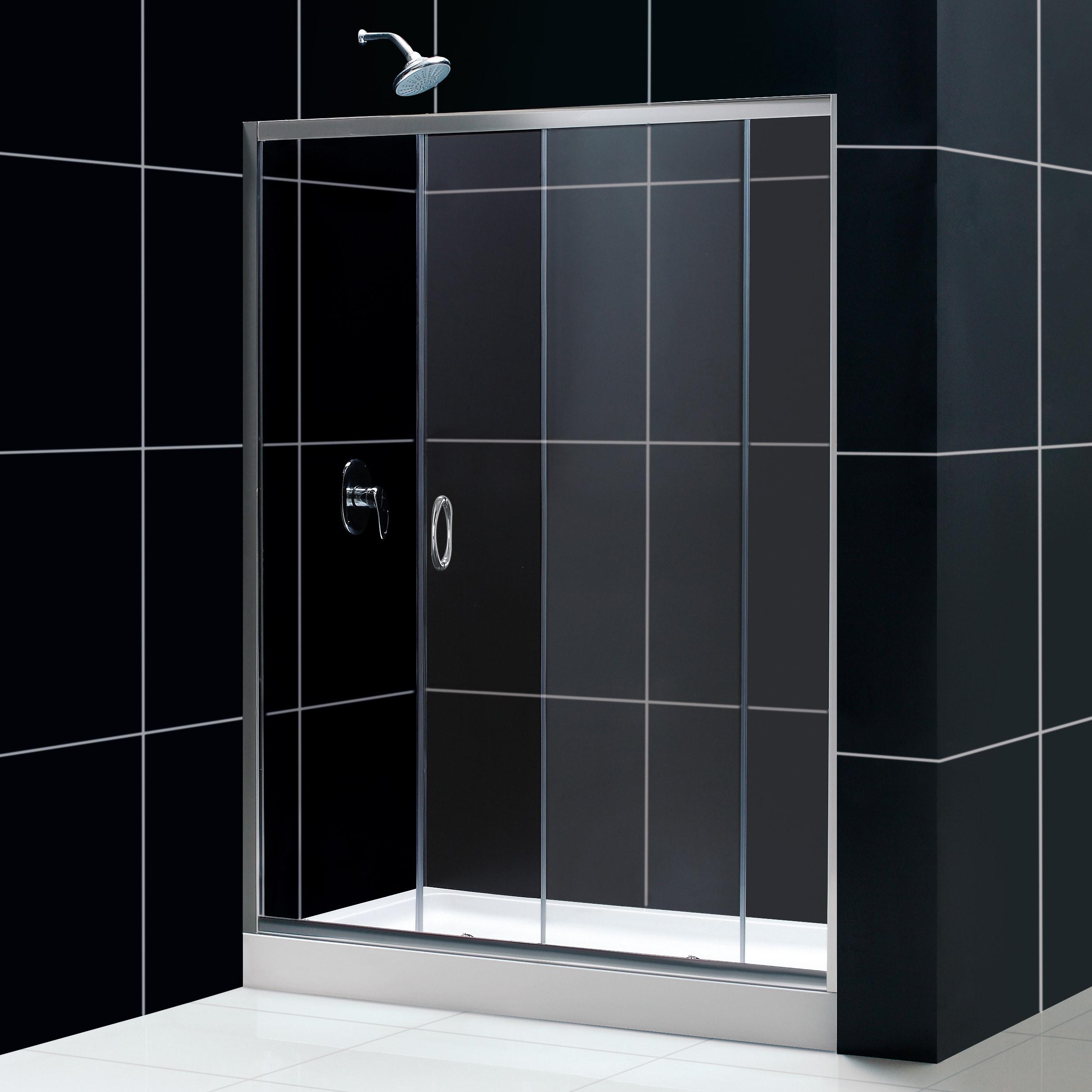 DreamLine Infinity 60x72-inch Shower Door and Amazon Base
