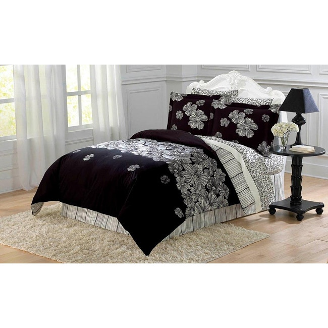 Night Blossom 8-piece Full Size Bed in a Bag