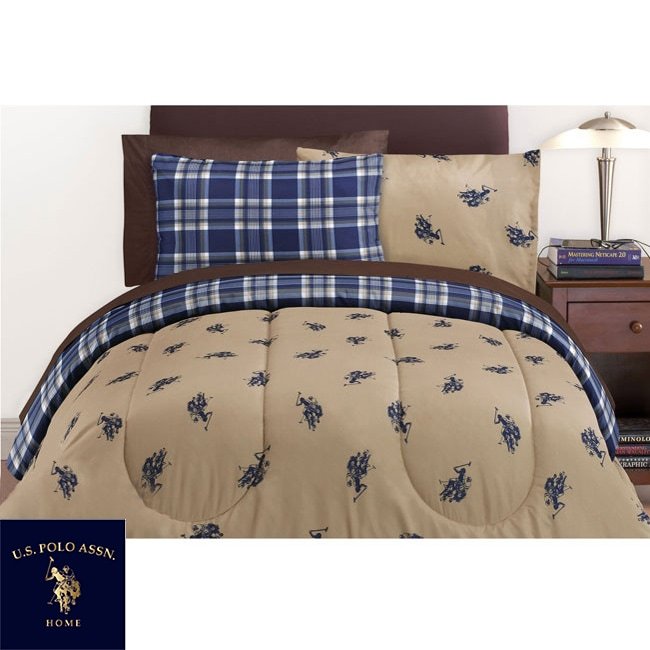 US Polo Association Twin XL-size 6-piece Bed in a Bag with Sheet Set