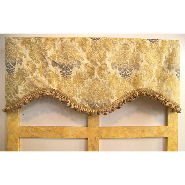 Gold Floral Damask 50-inch Valance