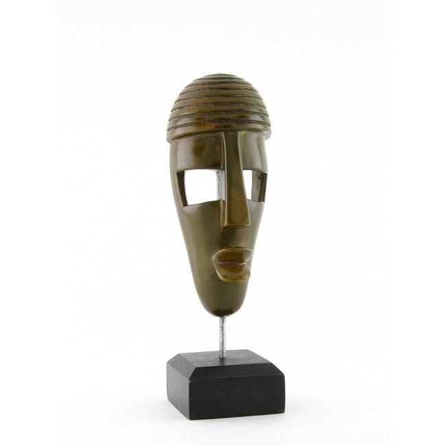 Soapstone Guava Kisii Mask on Stand (Kenya)