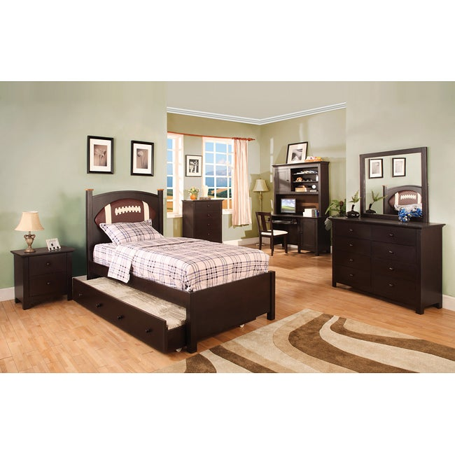 Furniture of America Maxton Football-theme Twin-size Bedroom Set