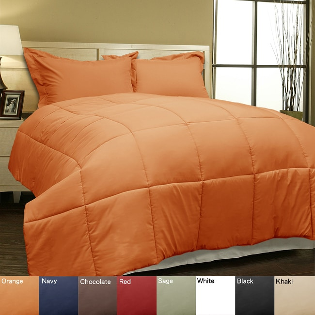 Microfiber Down Alternative Comforter and Sham Set