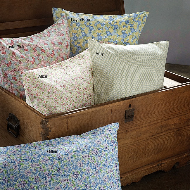 Laura Ashley Printed Cotton 300 Thread Count Full-size Sheet Sets