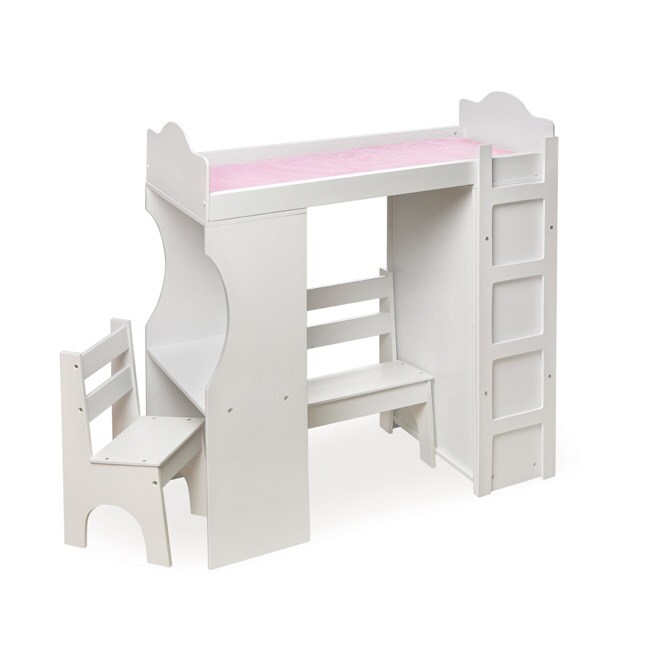 Badger Basket Doll Loft Desk Armoire And Bed Set Free