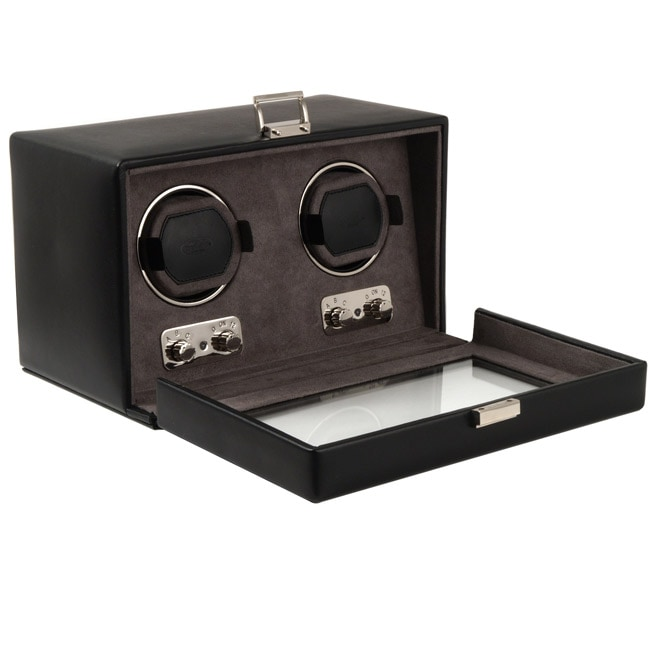 WOLF Double Watch Winder with Cover