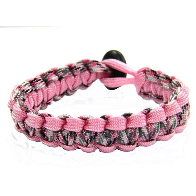 Paracord Pink and Camo Bracelet (USA)