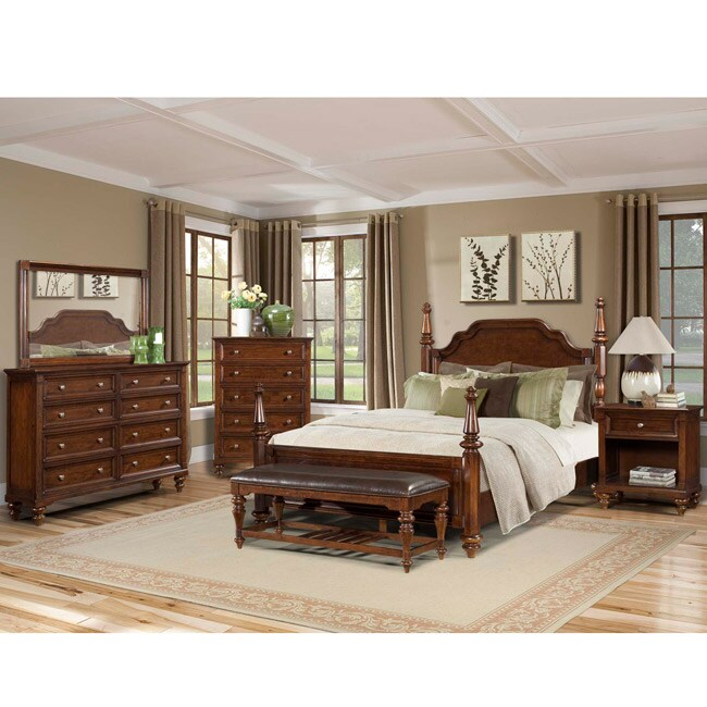 Simply Solid Nantucket King-size Poster Bed