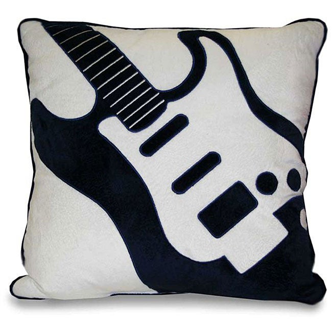 Guitar Applique Decorative Pillow