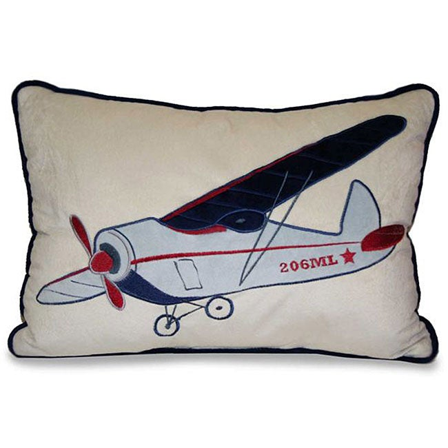 Airplane Applique Decorative Pillow Free Shipping On