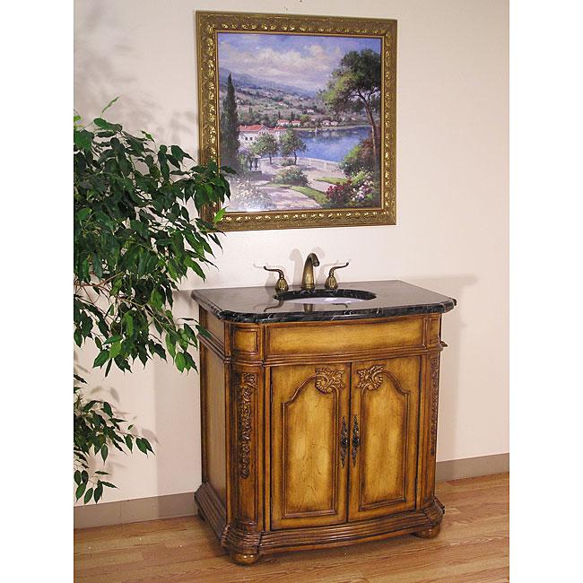 Black Marble Top 36-inch Single-sink Bathroom Vanity