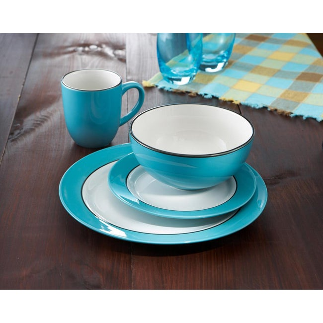 American Atelier Regency Teal 16-pc Dinnerware Set