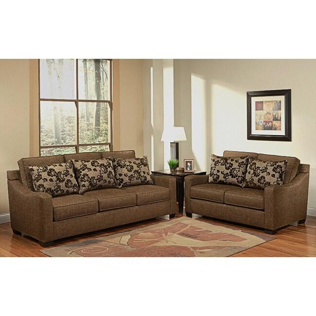 Furniture of America Noemi 2-piece Sofa and Loveseat Set